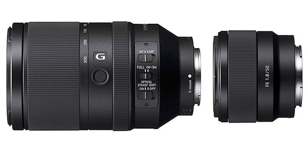 Nové full frame FE objektivy od Sony: 50mm f/1.8 a 70-300mm f/4.5-5.6